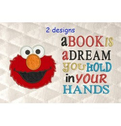 Elmo with a book is a dream