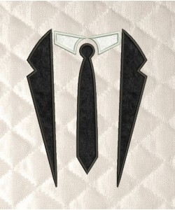 Tuxedo Tie Applique