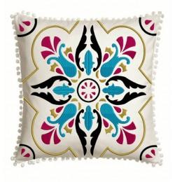 Moroccan Tiles pillow in the hoop