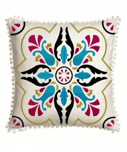Moroccan Tiles pillow in the hoop