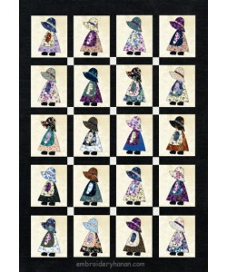 sunbonnet applique design