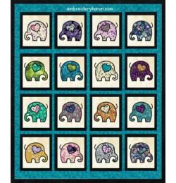 Elephant quilt applique