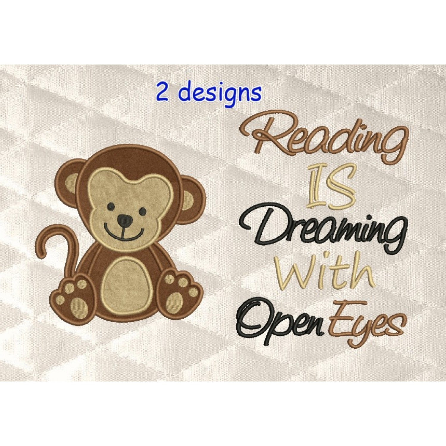 baby monkey with reading is dreaming