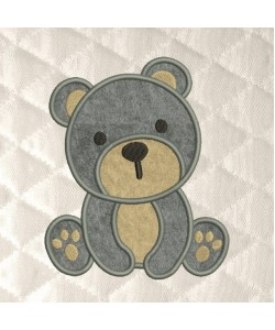 baby bear applique
