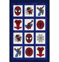 spiderman quilt set 9 designs embroidery