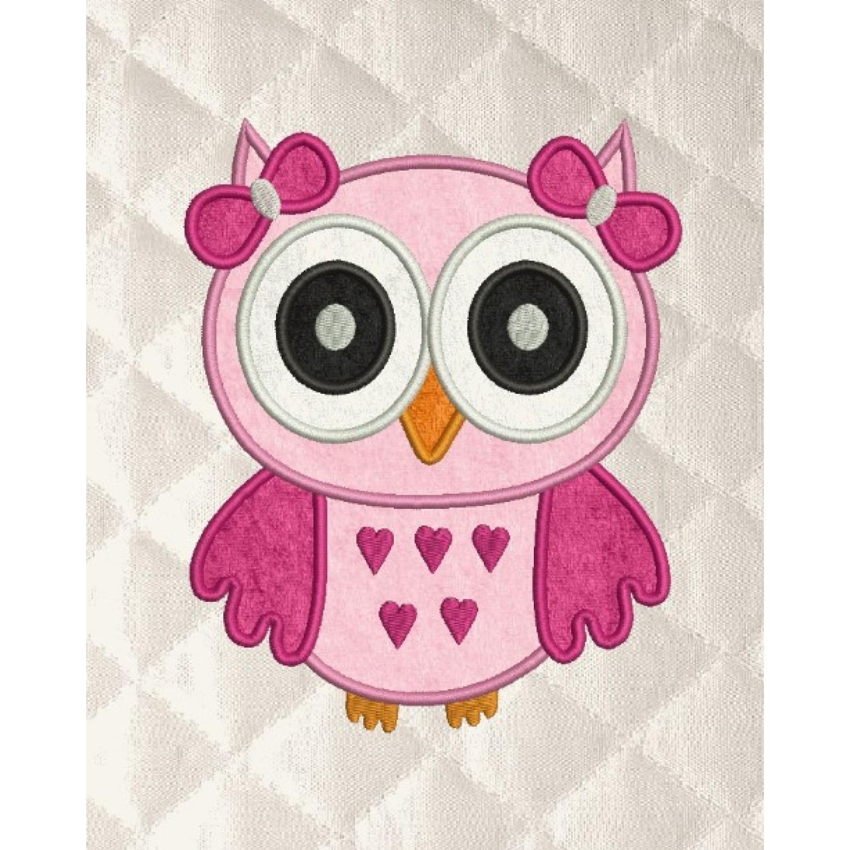 owl girl applique