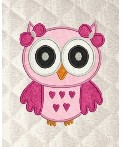 owl girl applique