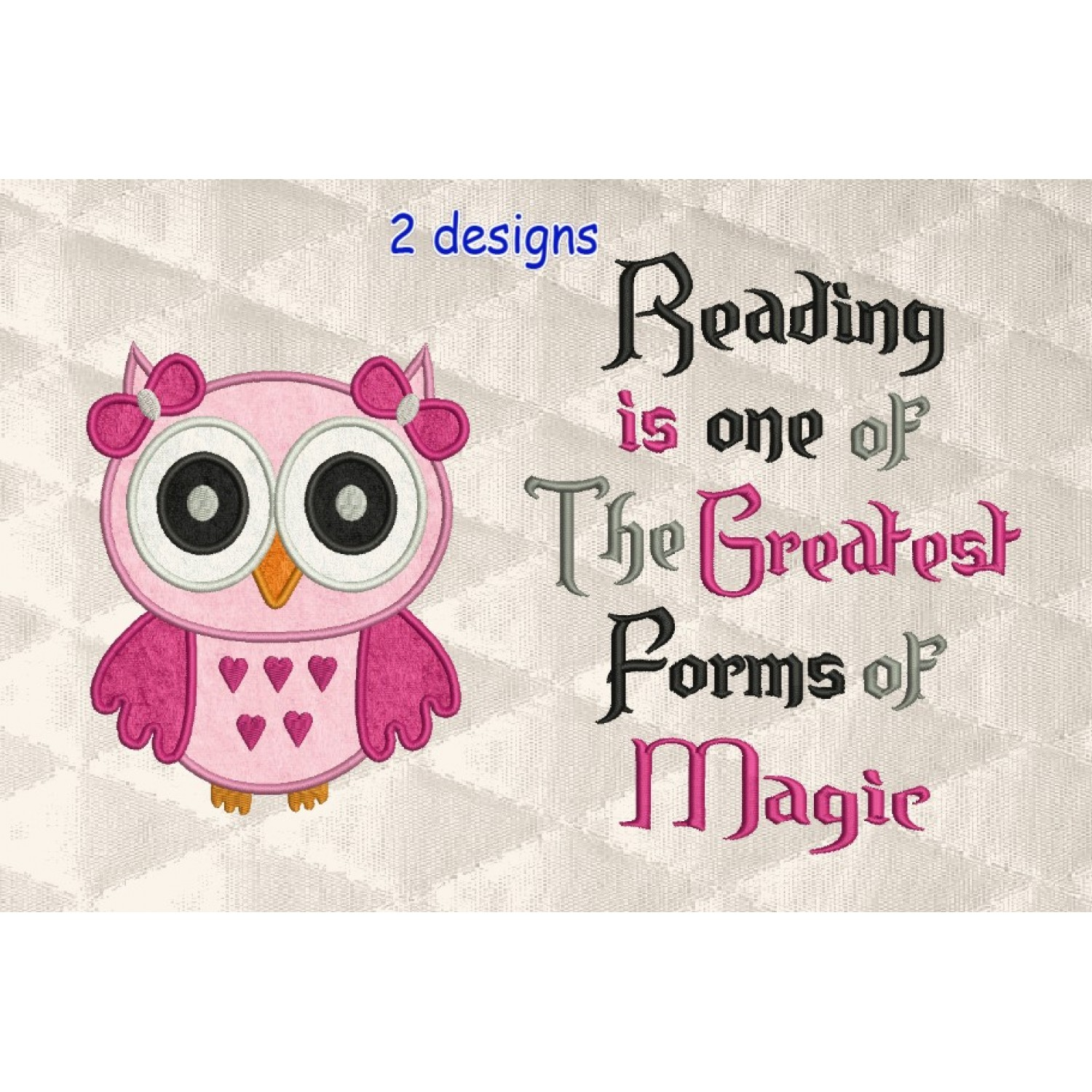 Owl girl with reading is one