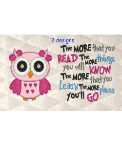 owl girl with the more that you read