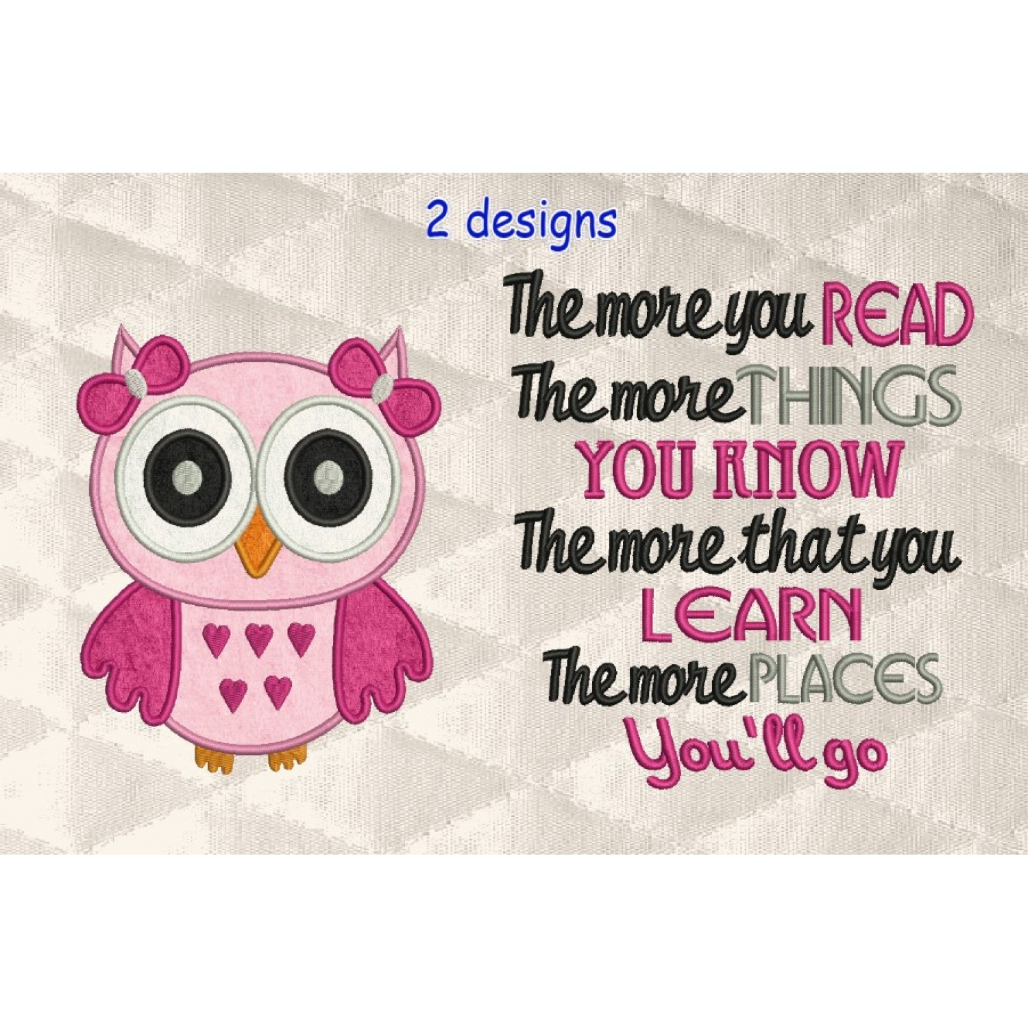 owl girl with the more you read
