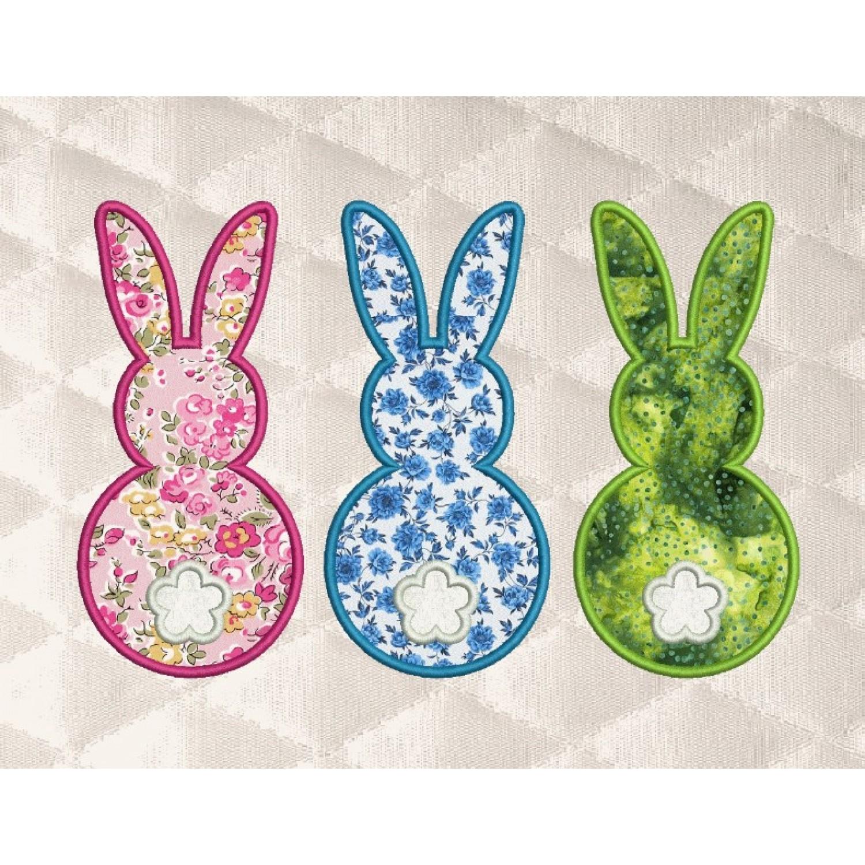 Three Bunny applique