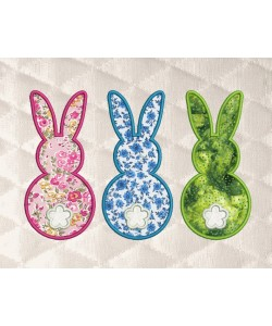 Three Bunny applique