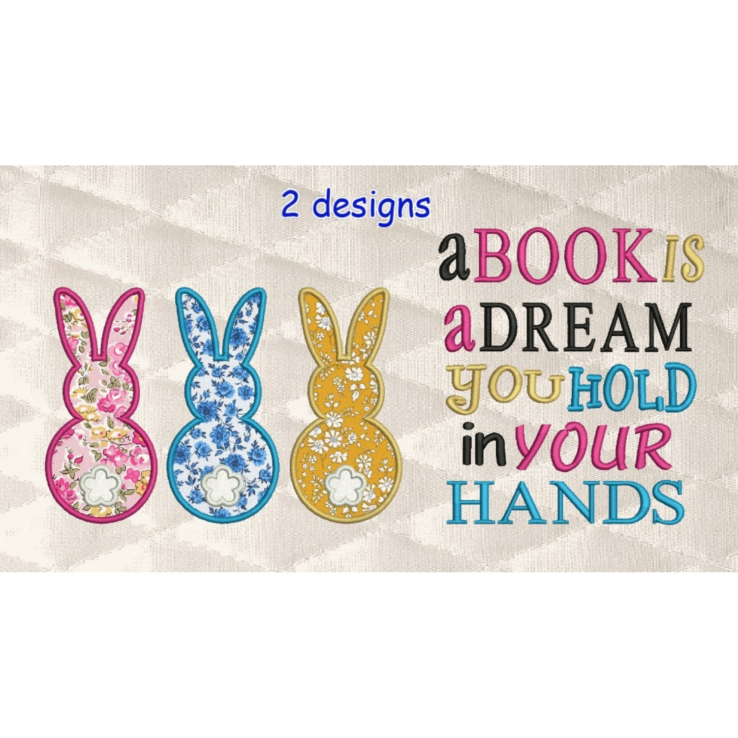 Three Bunny with a book is a dream