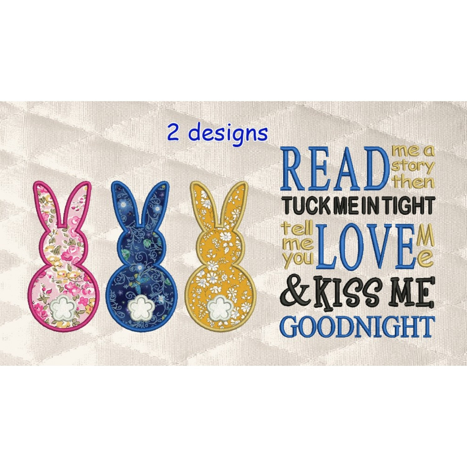 Three Bunny with read me a story