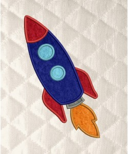 space rocket applique