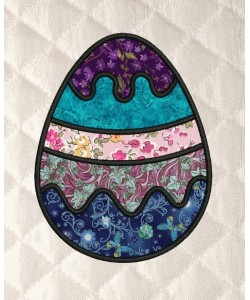 Easter Eggs stippling applique