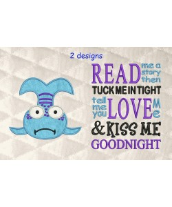 pout pout fish applique with read me a story