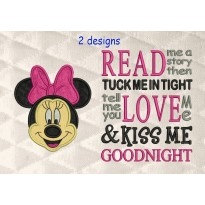 minnie mouse face read me a story