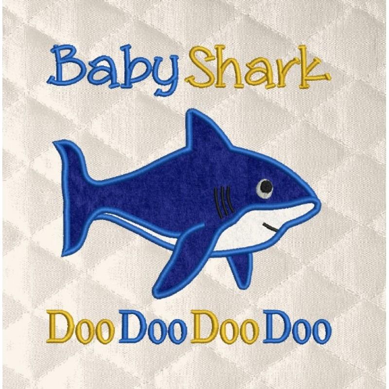 baby shark doo applique