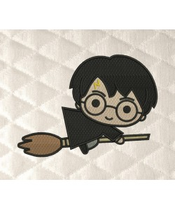 harry potter Broom embroidery