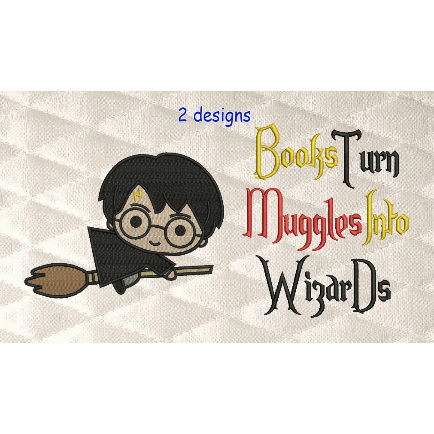 Harry potter Broom with books turn