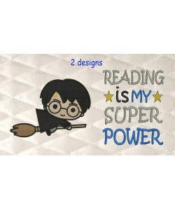 Harry potter Broom with reading is my superpower