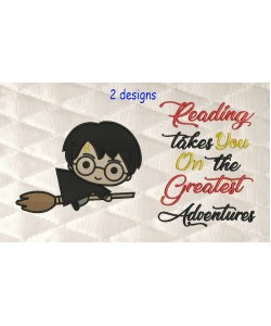 Harry potter Broom with reading takes you