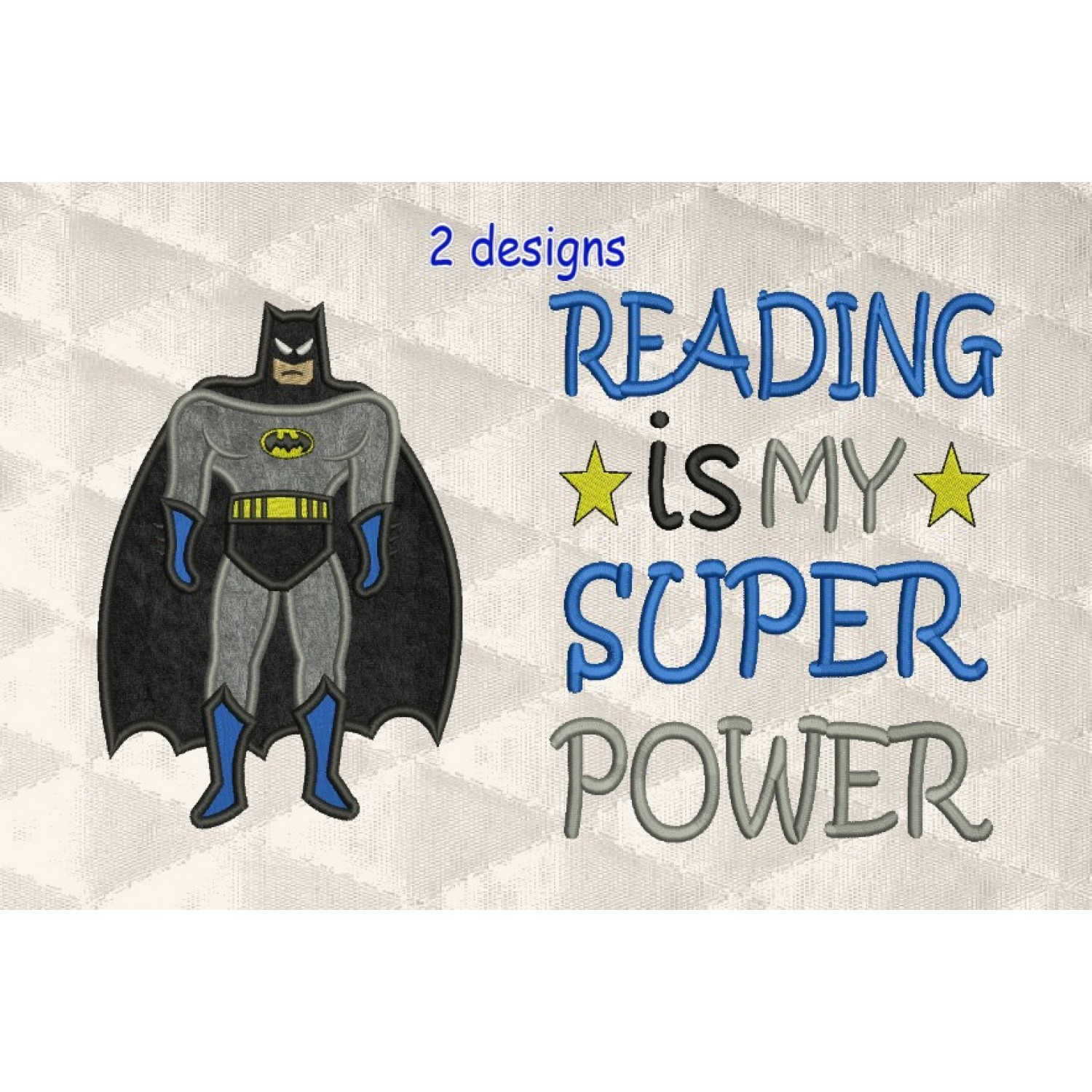 batman applique with Reading is My Superpower v2