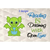 Dragon with reading is dreaming