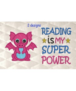 Dragon with reading is my superpower