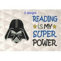 Star Wars applique with reading is my super power