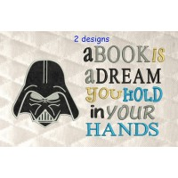 Star Wars applique with a book is a dream