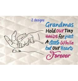 hands line with Grandmas 2 designs 3 sizes