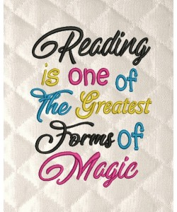 Reading is one of the greatest