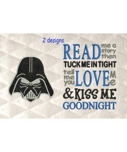 Star Wars applique with read me a story
