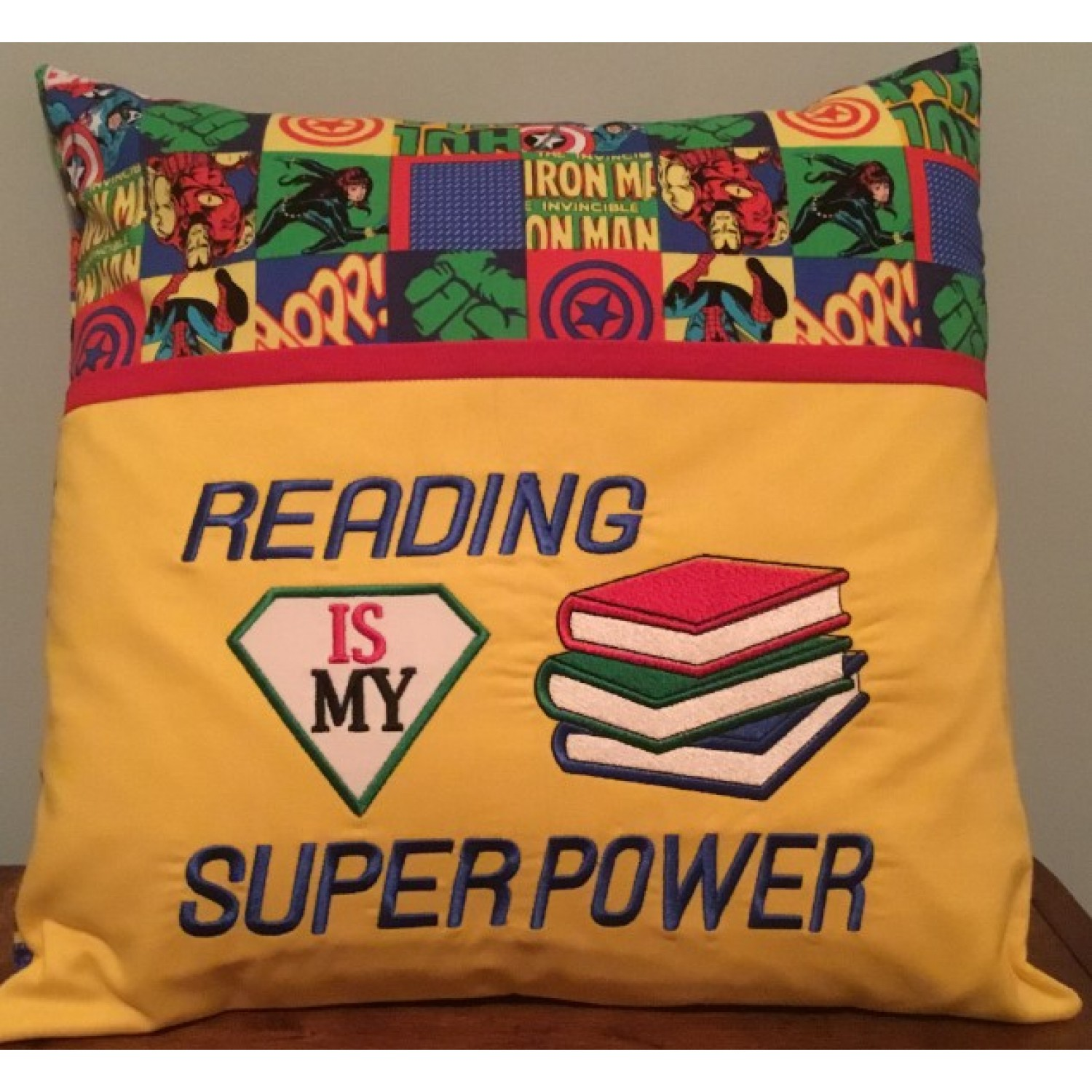 Reading is My Super power v3 reading pillow