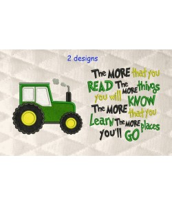 Tractor applique with the more that you read