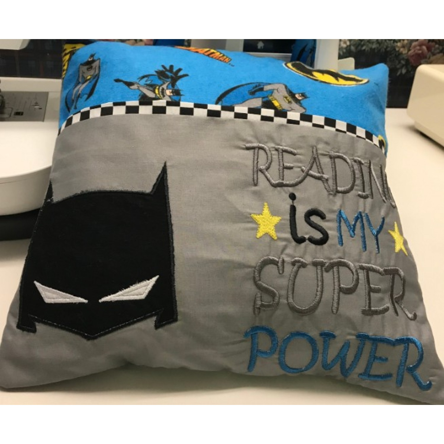 Batman Mask with reading is my super power