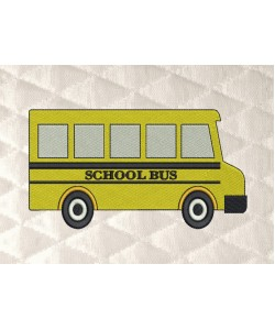 school bus embroidery