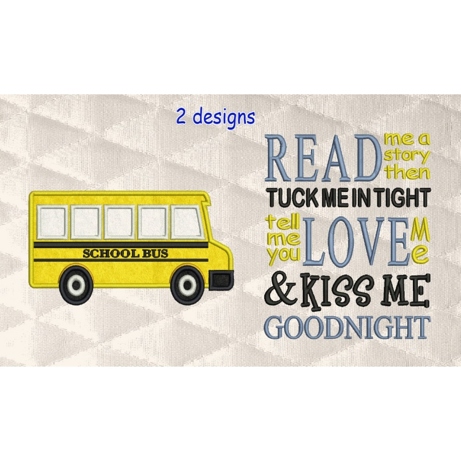 school bus with read me a story