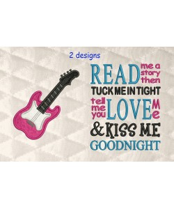 guitar applique with read me a story