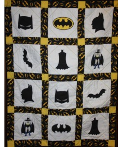 batman quilt set 7 designs embroidery