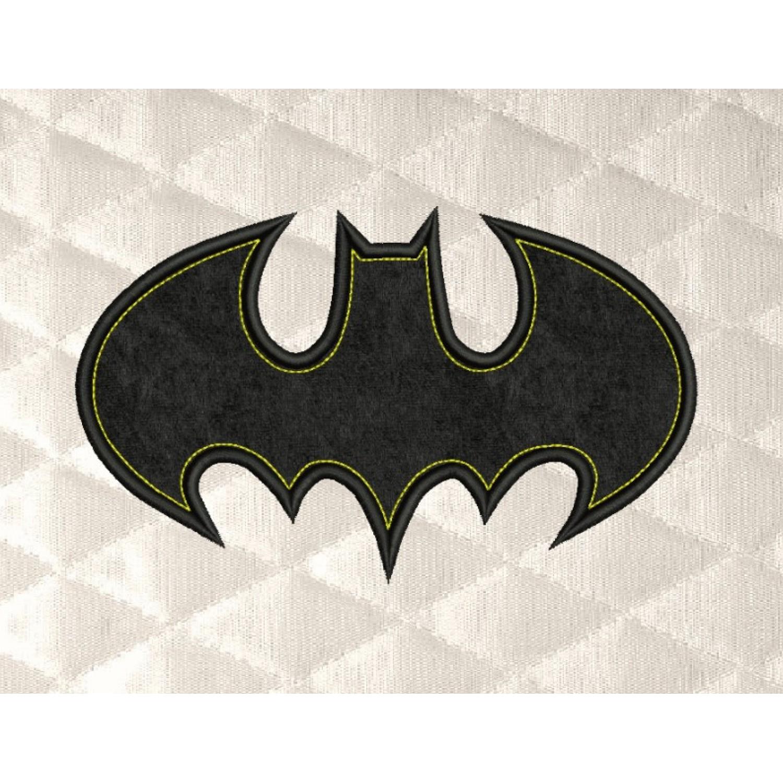 batman logo single applique
