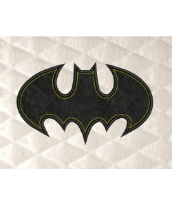 batman logo single applique