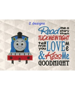 thomas the train applique with read me 2 designs 3 sizes