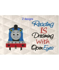 Thomas the train applique with reading is dreaming