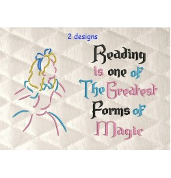 Alicia with reading is one Designs