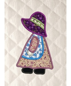 sunbonnet applique