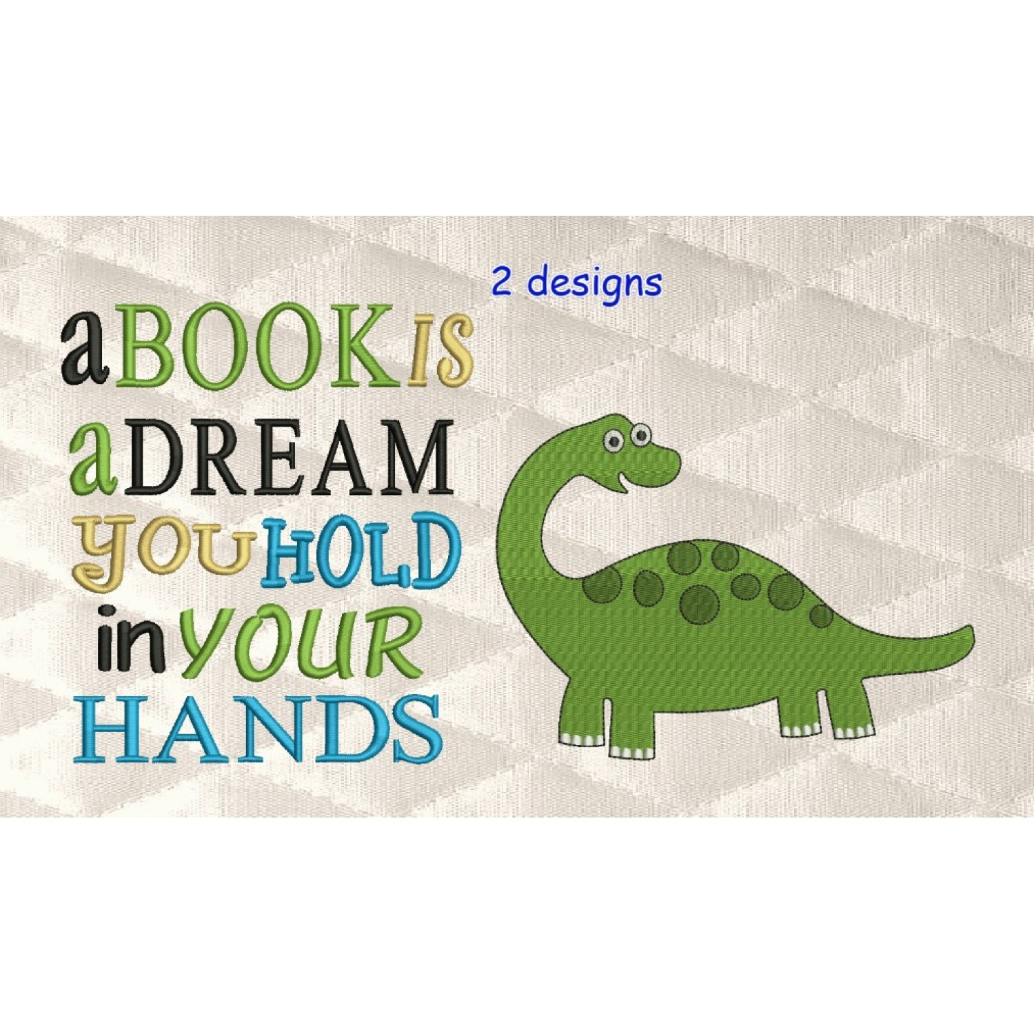 dinosaur grand with a book is a dream