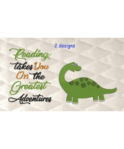 dinosaur grand with reading takes you